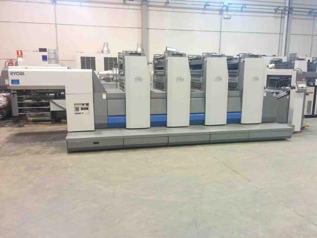Ryobi 754, б/у 2005 - 4-красочная печатная машина