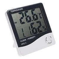 HTC-1 с большим экраном термометр  гигрометр часы, фото 1