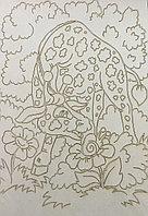 Трафарет Размера A4 для рисования песком, Жираф