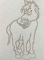 Трафарет Размера A5 для рисования песком, лошадка