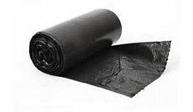 """Черные мусорные пакеты 120 литров, в рулоне 10 шт """"Эконом"""""""