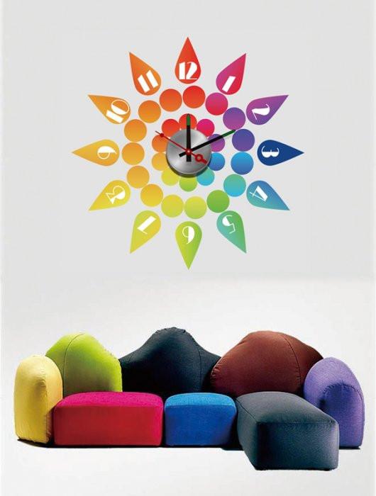 Часы-стикеры (размер 50х50 см)