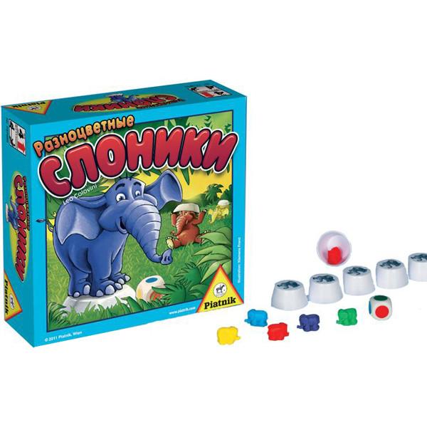 Piatnik Разноцветные слоники