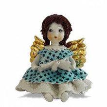 Статуэтка из керамики Ангелочек с нотами. Италия, ручная работа
