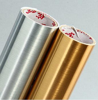 Металлизированная пленка царапанное серебро (9287) 1м