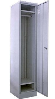 Шкаф металлический гардеробный односекционный