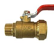 Кран шаровый труба-наружняя резьба C-ML 16-1/2 HYD