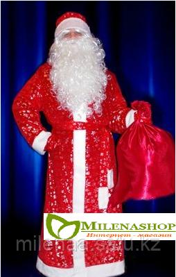 Потрясающие новогодние костюмы Деда Мороза с Красивой бородой и париком