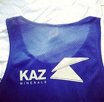 Фитнес майки для компании KAZMIN