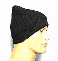 Рабочая шапка вязаная под каска, Рабочая шапка вязаная, шапка вязаная мужская, фото 1