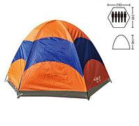 Палатка туристическая двухслойная пятиместная SY-031, 2,4х2,4х1,45 м