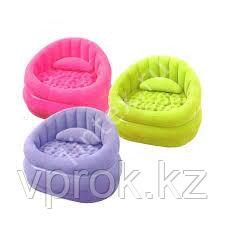 Кресло надувное 91х102х65 см, max 100 кг, Intex 68563, поверхность флок - фото 1
