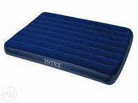 Матрас надувной двуспальный 191х137х22 см, max 175 кг, Intex 68758, поверхность флок
