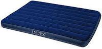 Матрас надувной двуспальный 203х152х22 см, max 215 кг, Intex 68759, поверхность флок