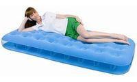Матрас надувной односпальный 185х76х22 см, max 110 кг, Bestway 67387, поверхность флок