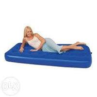 Матрас надувной односпальный 185х76х22 см, max 120 кг, Bestway 67000, поверхность флок
