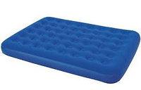 Матрас надувной двуспальный 203х152х23 см, max 215 кг, Bestway 67003, поверхность флок