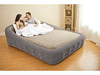 Кровать надувная двуспальная 241х193х76 см, max 270 кг, Intex Comfort Frame Airbed 67972, поверхность флок, встроенный насос