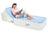 Кровать надувная односпальная с регулируемой спинкой 211х104х81 см, max 227 кг, Bestway 67386, поверхность флок