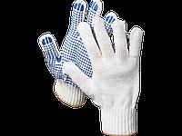 Перчатки трикотажные DEXX, 7 класс, х/б, обливная ладонь