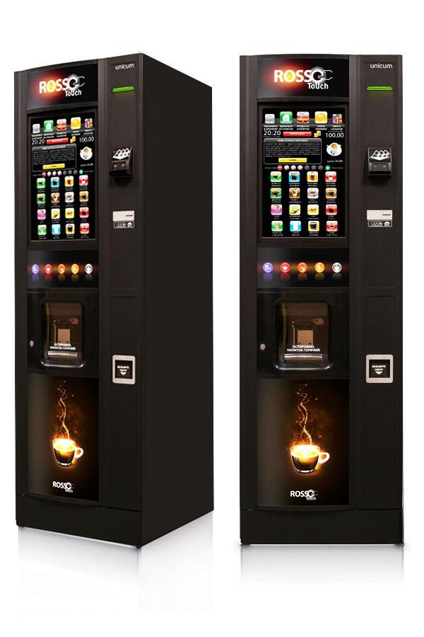 Зерновой торговый кофейный автомат ROSSO TOUCH