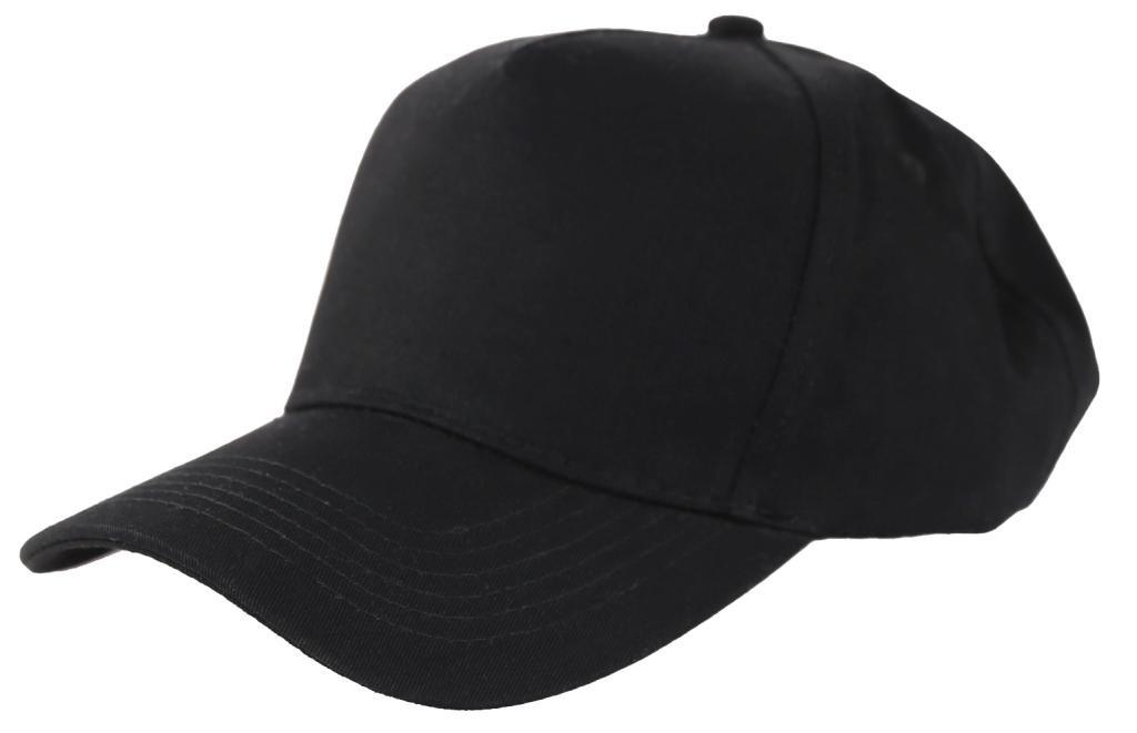 Бейсболки 5 панельные (плотные, Черное)
