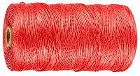 Шпагат ЗУБР многоцелевой полипропиленовый, красный, 1200текс, 60м