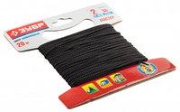 Шнур ЗУБР полиамидный, плетеный, повышенной нагрузки, без сердечника, черный, d 4, 20м