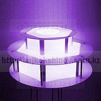 Стол с подсветкой под шоколадный фонтан.