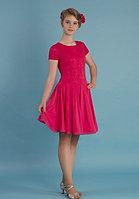 Платье спортивное для бальных танцев Р 7.3 Альера (розовый)