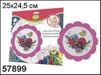 """D&M Набор для вышивания крестиком """"Цветы и птицы"""" в розовой (голубой) рамках"""