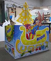 """Новогодние паллеты ТМ """"Nesquik"""" для компании """"Nestle"""""""