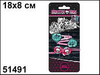 """Daisy design Набор аксессуаров для волос Monster High """"Skull"""" (2+2) + стикер"""