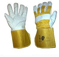 Перчатки кожаные комбинированные,Перчатки рабочие, Большой выбор рабочих перчаток всех видов, фото 1
