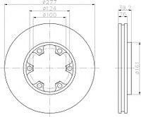Тормозные диски Nissan Terrano I, II (87-95, WD21, R20, передние , BluePrint)
