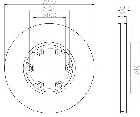 Тормозные диски Nissan Terrano I, II (WD21, R20, передние, Ashika, D277)