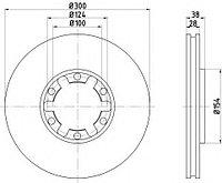 Тормозные диски Infiniti QX4 (передние, Ashika)