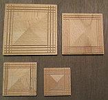 Розетка деревянная пирамида с окантовкой (80*80) F - 1(b)., фото 2