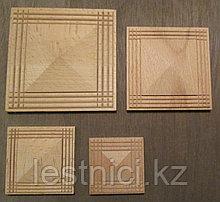 Розетка деревянная пирамида с окантовкой (50*50) F - 1(a).