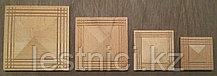 Розетка деревянная пирамида с окантовкой (80*80) F - 1(b).