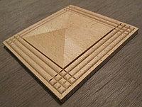 Розетка деревянная пирамида с окантовкой (100*100) F - 1(c)., фото 1