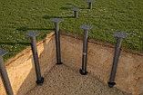 Всесезонное устройство фундаментов зданий, домов, бань, заборов из фундаментных винтовых свай d 89 мм, фото 4