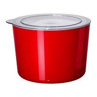 ЛЬЮСТ  Емкость с крышкой, красный, прозрачный, фото 1