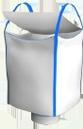 Биг-бэг полипропиленовый одно-двух-четырехстропный  (ленточный) верхняя крышка (лацкан) нижний люк
