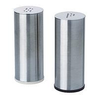Солонка/перечница ПЛАТС 2 шт. нерж. сталь ИКЕА, IKEA, фото 1