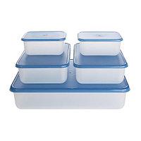 Набор контейнеров РЕДА 5 шт. белый/синий ИКЕА, IKEA