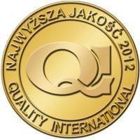 Приз Наивысше качество Quality International 2012