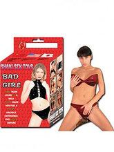 """Красный латексный набор трусы и лифчик """"Bad Girl"""""""