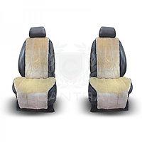 Меховые накидки CANTRA на передние сидения (БЕЛЫЙ)