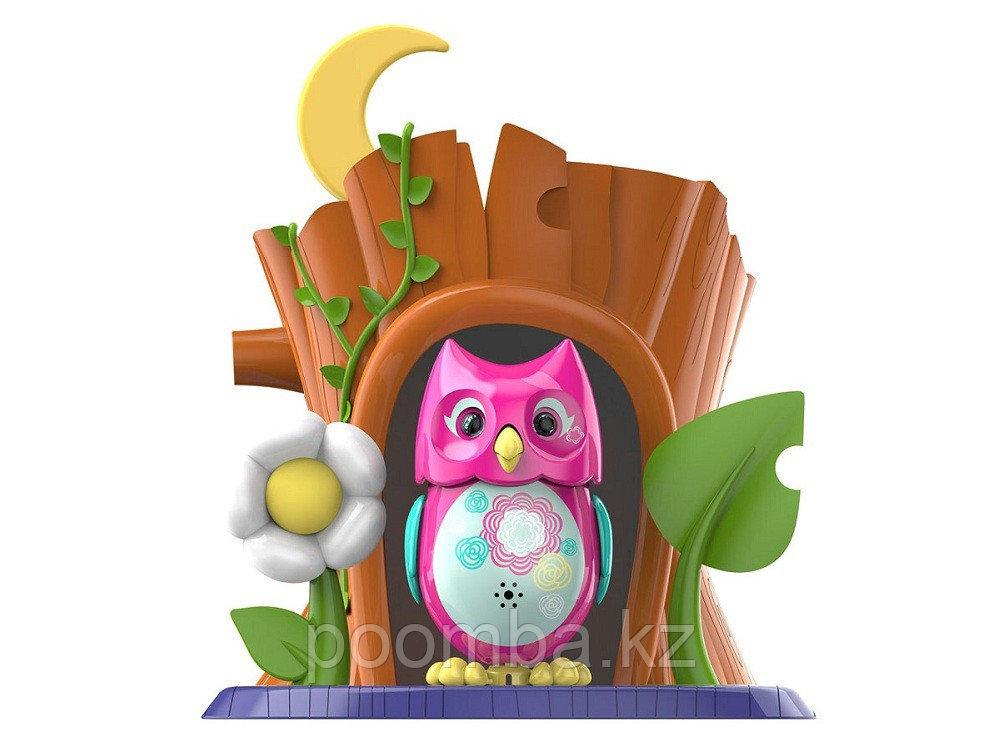 Интерактивная игрушка Silverlit DigiOwls Сова с домиком розовая